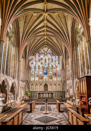 24 June 2017: Exeter, Devon, UK - The Lady Chapel of Exeter Cathedral, Devon, England. - Stock Photo