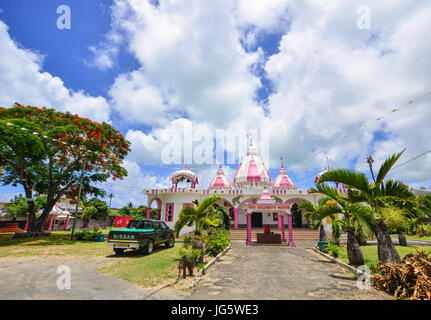 Grand Baie, Mauritius - Jan 10, 2017. View of the Hindu temple at sunny day in Port Louis, Mauritius. According - Stock Photo