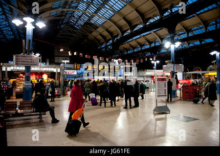 Early morning at Norwich Railway Station,UK - Stock Photo