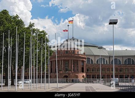 Festhalle Frankfurt, is a multi-purpose hall at the ttrade fair grounds of Frankfurt - Stock Photo
