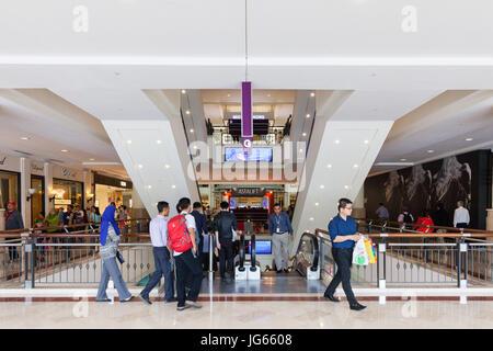 KUALA LUMPUR, MALAYSIA - AUGUST 03: People in the shopping mall on August 03, 2016 in Kuala Lumpur, Malaysia. - Stock Photo