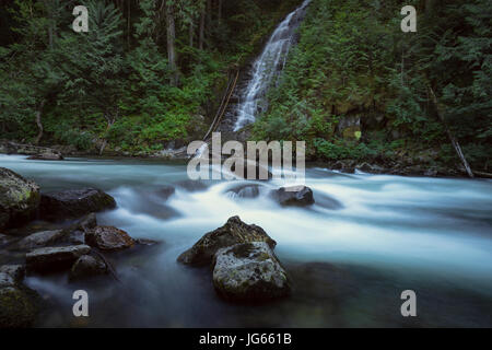 Pacific North West Waterfalls and Landscapes - Stock Photo