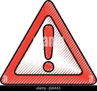 alert signal isolated icon - Stock Photo