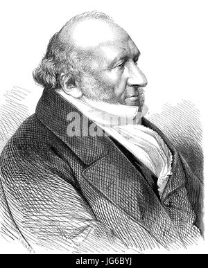 Digital improved:, Sir Moses Haim Montefiore, 1st Baronet, 1784 - 1885, a British financier and banker, activist, - Stock Photo