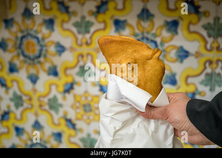 Traditional Fritta food from Brindisi, Italy, Europe - Stock Photo