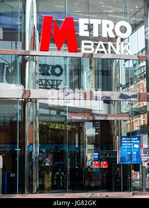 Metro Bank, Reading, Berkshire, England - Stock Photo