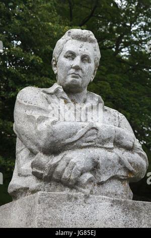 Monument to Czech novelist Jaroslav Hašek (1983) in the village of Lipnice nad Sázavou in Vysočina Region, Czech - Stock Photo