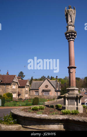 The Waterford Fountain, Ford Village, Northumberland - Stock Photo