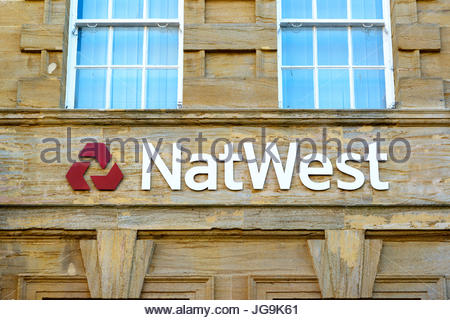 NatWest bank branch, Dorchester, Dorset, England, UK - Stock Photo