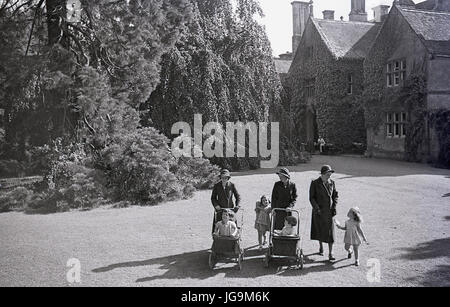 1940s, England, wartime, picture shows Stanstead Hall, home of Lady Butler (Sydney Courtauld) wife of Rab Butler, - Stock Photo