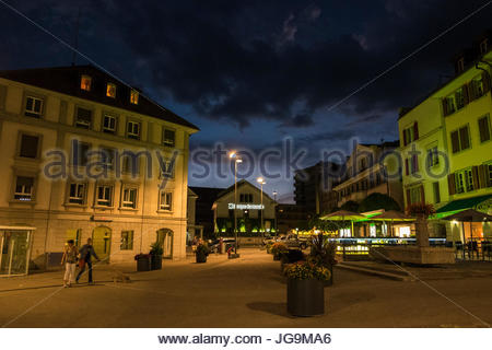bulle, canton fribourg, switzerland - Stock Photo