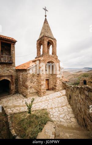 Sagarejo Municipality, Kakheti Region, Georgia. Belfry Of Georgian Orthodox David Gareja Monastery Complex. Monastery - Stock Photo