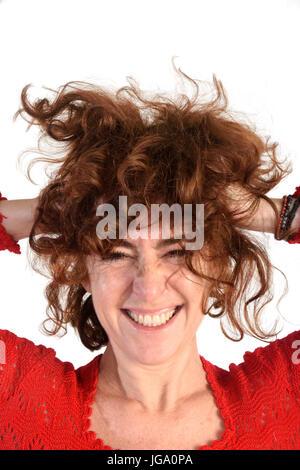 Woman who disheveled, - Stock Photo