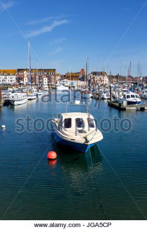 Boats in Weymouth marina, Weymouth, Dorset, England, UK - Stock Photo