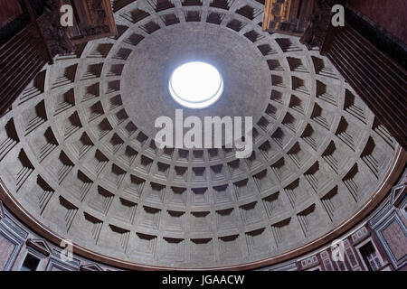 Rome, Italy - October 01, 2015. The Pantheon is an ancient Roman building located in the historic center. Central - Stock Photo
