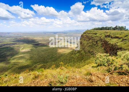 Beautiful landscape of Menengai Crater, Nakuru, Kenya, East Africa - Stock Photo