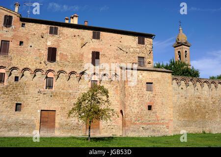 italy, tuscany, buonconvento, walls - Stock Photo
