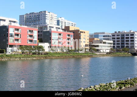 Along Mission Creek Park in San Francisco - Stock Photo