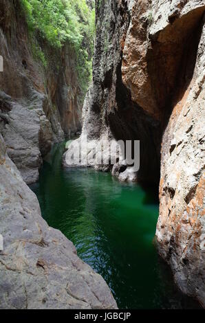 Somoto Canyon in the north of Nicaragua, a popular tourist destination for outdoor activities such as swimming, - Stock Photo