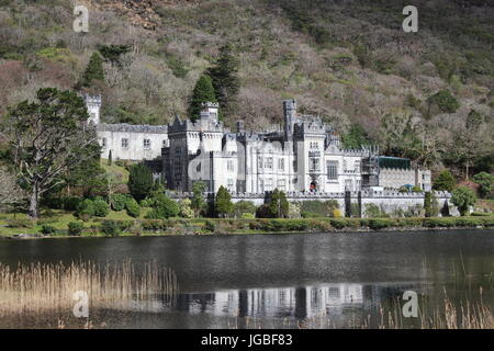 Kylemore Abbey, Connemara region, Ireland, Europe - Stock Photo