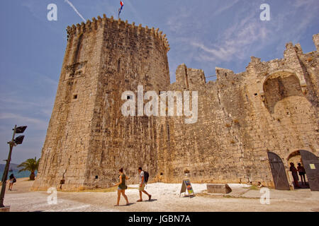 Castle on the waterfront at Trogir Old Town, Croatia. - Stock Photo