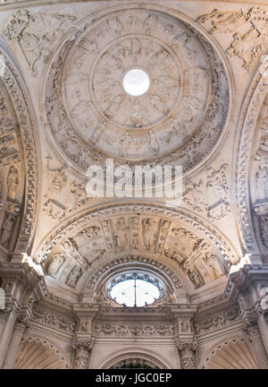 Part of the ornate ceiling of the Cathedral in Seville, Andalucia, Spain. - Stock Photo