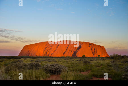 Uluru, Ayers Rock, Uluru-Kata-Tjuta National Park, Northern Territory, Australia - Stock Photo