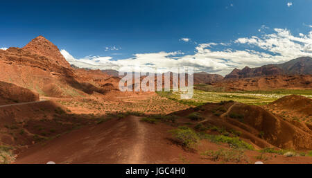 The road from Cachi to San Antonio de los Cobres, in Puna region of Salta in northern Argentina - Stock Photo