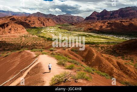 The road from Cachi to San Antonio de los Cobres, in Puna region of Salta in northern Argentina - Stock Photo