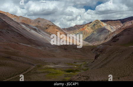 Agua Negra pass, Andes, Chile Argentina - Stock Photo