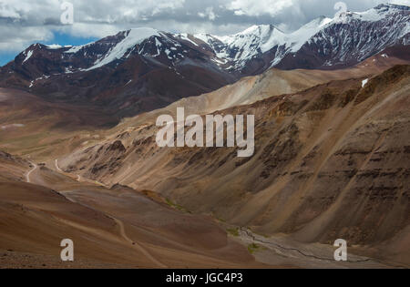 Agua Negra pass, Andes, border crossing Chile Argentina - Stock Photo