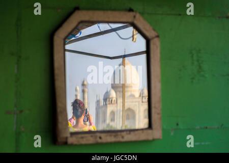 Taj Mahal, Uttar Pradesh, India - Stock Photo