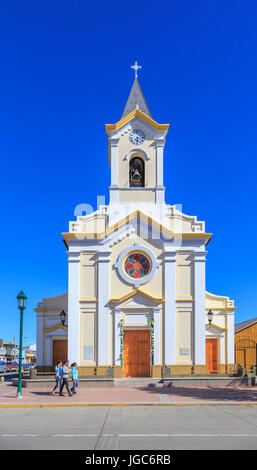 Cathedral of Puerto Natales, Chile, South America - Stock Photo