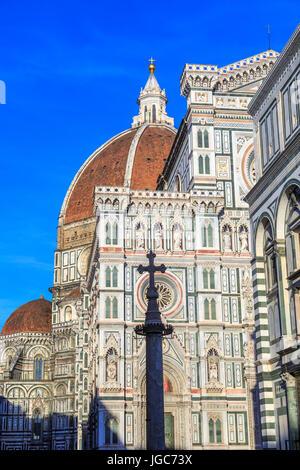 Battistero San Giovanni, Cattedrale di Santa Maria del Fiore, Florence, Tuscany, Italy - Stock Photo