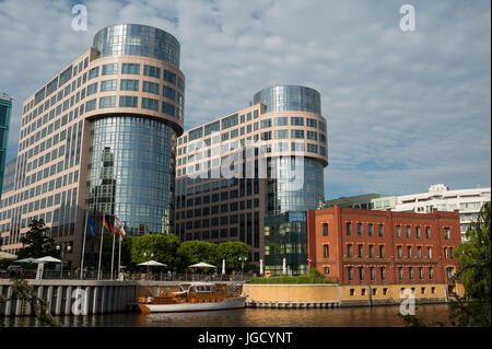 29.05.2017, Berlin, Germany, Europe - View of the Federal Ministry of the Interior and the adjacent Abion Hotel - Stock Photo
