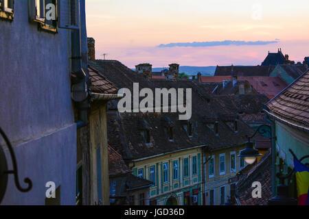 The suburbs of the town Sibiu, in Romania - Stock Photo
