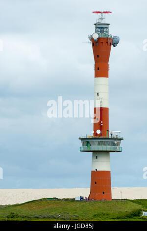 WANGEROOGE, GERMANY.  04th July 2017: View of the new lighthouse in the west on the island wangeroog, one of the - Stock Photo