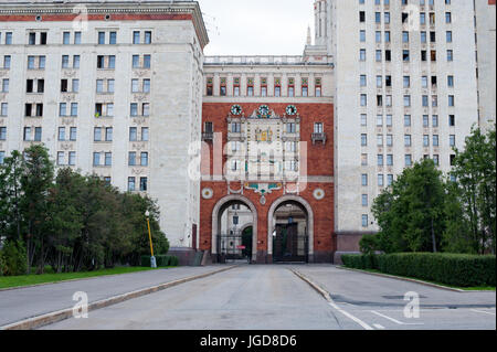 Lomonosov Moscow State University, Moscow, Russia - Stock Photo