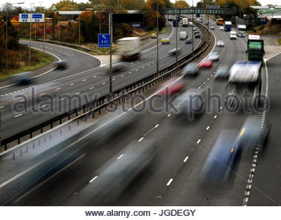 Embargoed to 0001 Thursday July 6 File photo dated 26/10/09 of traffic on a motorway. Personal injury payouts 17 - Stock Photo