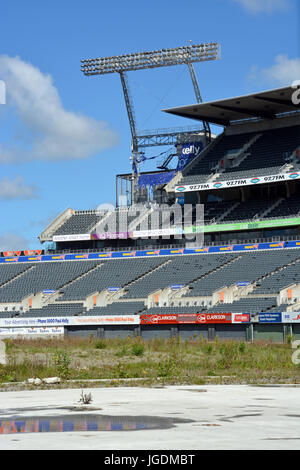 Christchurch, New Zealand - October 12, 2013: Lancaster Park, formerly Jade Stadium and currently known as AMI Stadium - Stock Photo
