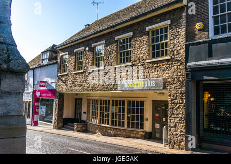 A DWP Jobcentre Plus office in the town centre of Stamford, Lincolnshire, England UK. - Stock Photo