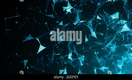 Abstract connected dots. Digital backdrop. 3d rendering - Stock Photo