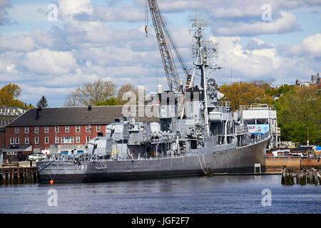 USS cassin young charlestown navy yard Boston USA - Stock Photo
