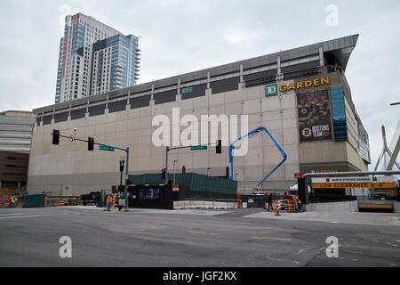 ... TD Garden Arena Boston USA   Stock Photo