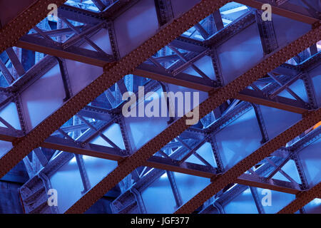 Underside of Southwark Bridge, London, UK - Stock Photo