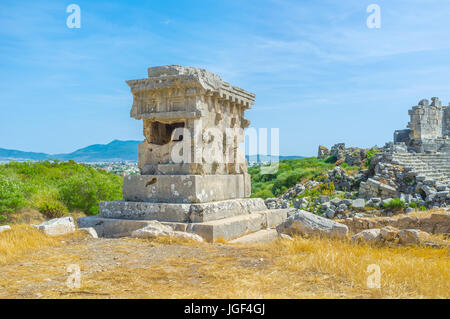 Harpy monument and Lycian tomb, Xanthos, Kalkan, Lycia ...