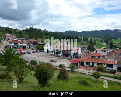 18TH JUNE 2017, PAIPA, COLOMBIA - tourists spend the holiday of Corpus Cristi at the Pantano de Vargas monument - Stock Photo
