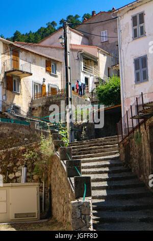 The village of Vivario (Corsica) - Stock Photo