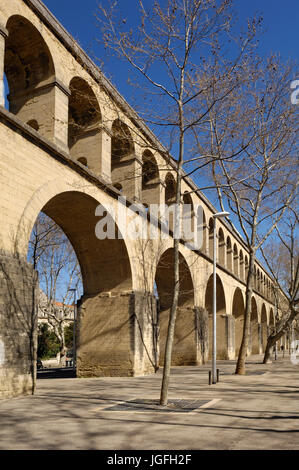 Saint Clement Aqueduct in Montpellier, France - Stock Photo