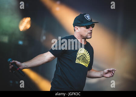 June 17, 2017: Ugly Kid Joe performing live on stage at the Hellfest Festival 2017 in Clisson Photo: Alessandro - Stock Photo